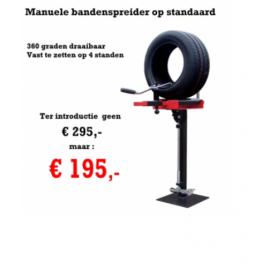 Manuele bandenspreider op standaard met voetplaat