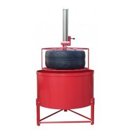Bandencontrole bak met pneumatische lift, max diam 820 mm
