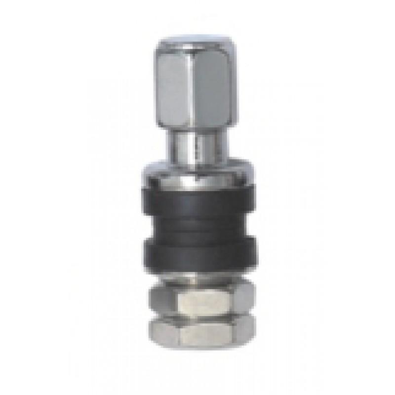 Tubeless ventiel PW metaal verchroomd 35 mm 6 mm