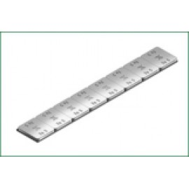 Kleefgewicht FE plat 2,8 mm 620C, 50 stuks
